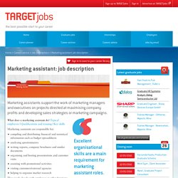 Marketing assistant: job description