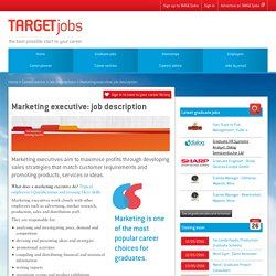 Marketing executive: job description