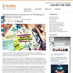 All Digital Marketing Companies are not Web Design & Development Companies