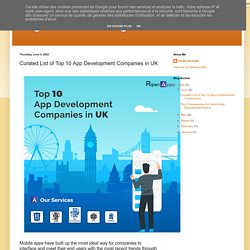 Curated List of Top 10 App Development Companies in UK