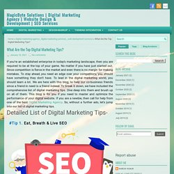What Are the Top Digital Marketing Tips? ~ MagicByte Solutions