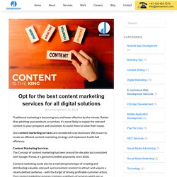 Opt for the best content marketing services for all digital solutions - Densenium India Private Limited- A Best Digital Marketing Agency & Website Development