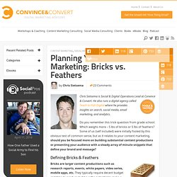 Content Marketing Plan Development: Bricks vs. Feathers | Convince & Convert | Blogging and Content Creation