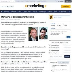 Marketing et développement durable - Métier - Les rendez-vous Dunod