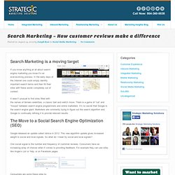 Search Marketing ~ How customer reviews make a difference