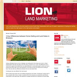Lion Land Marketing: 3 Key Differences between Home Selling and Land Sales in Brisbane