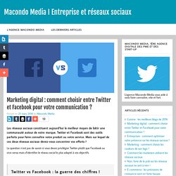 Marketing digital : comment choisir entre Twitter et Facebook ?