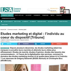 Etudes marketing et digital : l'individu au...