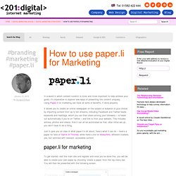 How to use paper.li for Marketing