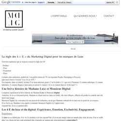 """La règle des 4 """"E"""" du Marketing Digital pour les marques de Luxe"""