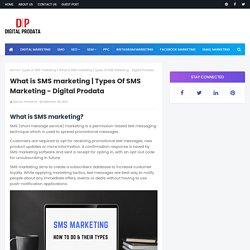 Types Of SMS Marketing - Digital Prodata