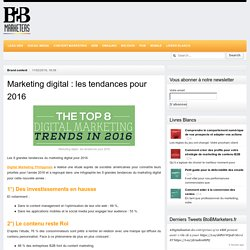 Marketing digital : les tendances pour 2016