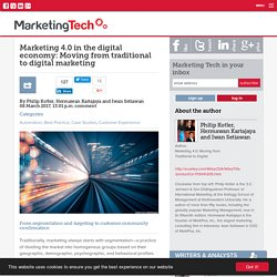Marketing 4.0 in the digital economy: Moving from traditional to digital marketing
