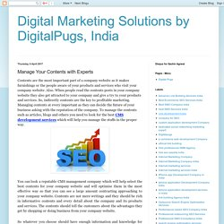 Digital Marketing Solutions by DigitalPugs, India: Manage Your Contents with Experts