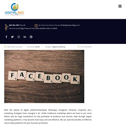 5 Benefits of Facebook As A Digital Marketing Channel