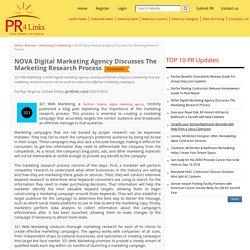NOVA Digital Marketing Agency Discusses The Marketing Research Process