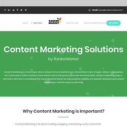 Content Marketing & Branding Solution, Content Distribution - Ranker Market