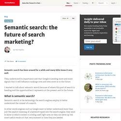 Semantic search: the future of search marketing?