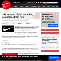 10 awesome digital marketing campaigns from Nike