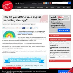 How do you define your digital marketing strategy?