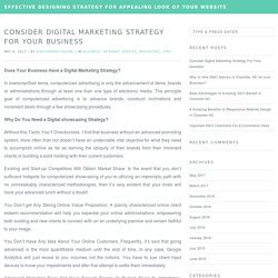 Consider Digital Marketing Strategy For Your business — Effective Designing Strategy for Appealing look of Your Website