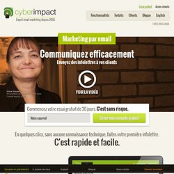 Marketing par email, logiciel emailing par Cyberimpact