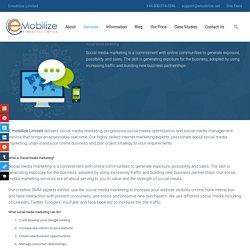 Social Media Marketing - Emobilize Limited