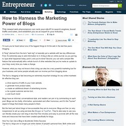 Harness the Marketing Power of Blogs