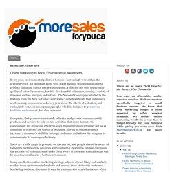 Online Marketing to Boost Environmental Awareness