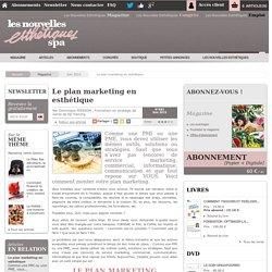 Le plan marketing en esthétique - Article de Juin 2015