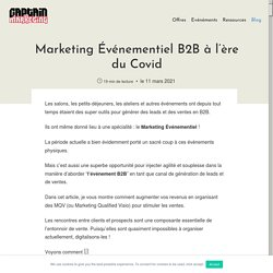 Marketing Événementiel B2B à l'ère du Covid - Captain Marketing