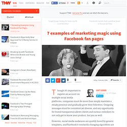 7 Marketing Examples Using Facebook Fan Pages