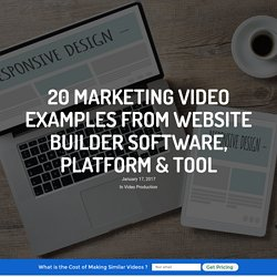 Examples From Website Builder Software, Platform & Tool
