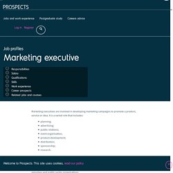 Marketing executive job profile