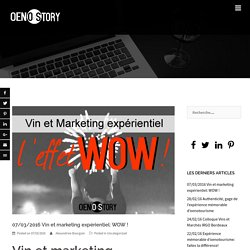 07/03/2016 Vin et marketing expérientiel: WOW ! - OENOSTORY