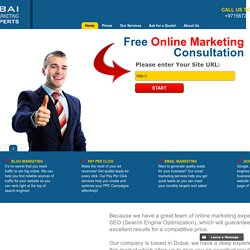Dubai SEO Online Marketing Experts  - Search Engine Optimization - Home