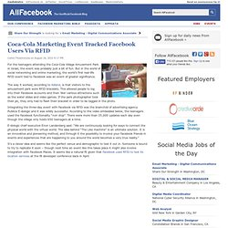 Coca-Cola Marketing Event Tracked Facebook Users Via RFID