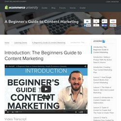 Intro to Online Content Marketing with Ezra Firestone