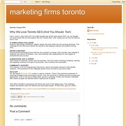 Why We Love Toronto SEO (And You Should, Too!)