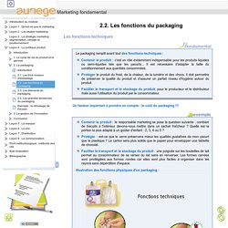 2.2. Les fonctions du packaging