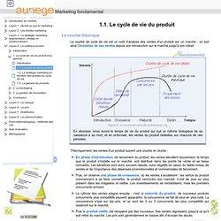 1.1. Le cycle de vie du produit