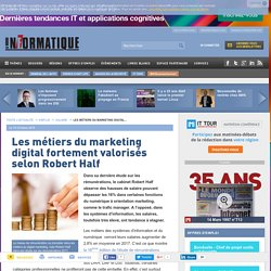 Les métiers du marketing digital fortement valorisés selon Robert Half