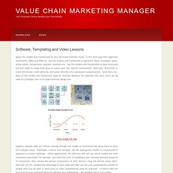 VALUE-CHAIN-MARKETING-MANAGER Software Strategy Model Framework Analysis Management