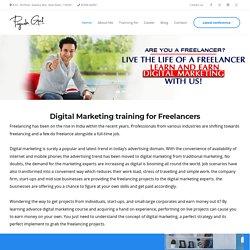 Digital marketing course for Freelancers, Digital Marketing training for Freelancers