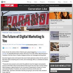 The Future of Digital Marketing Is You
