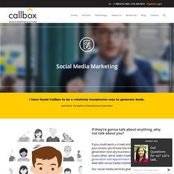 Social Media Marketing - CallboxB2B Lead Generation Company in Malaysia