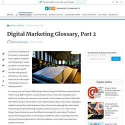 Digital Marketing Glossary, Part 2
