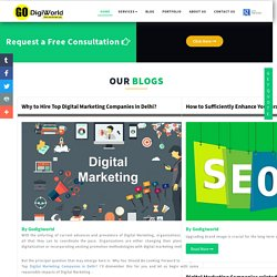 Why to Hire Top Digital Marketing Companies in Delhi?