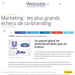 Marketing : les plus grands échecs de co-branding