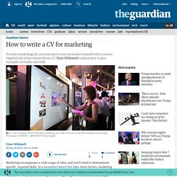 How to write a CV for marketing